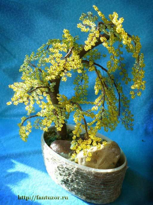 бисероплетение деревья ива видео - Вышивка бисером.