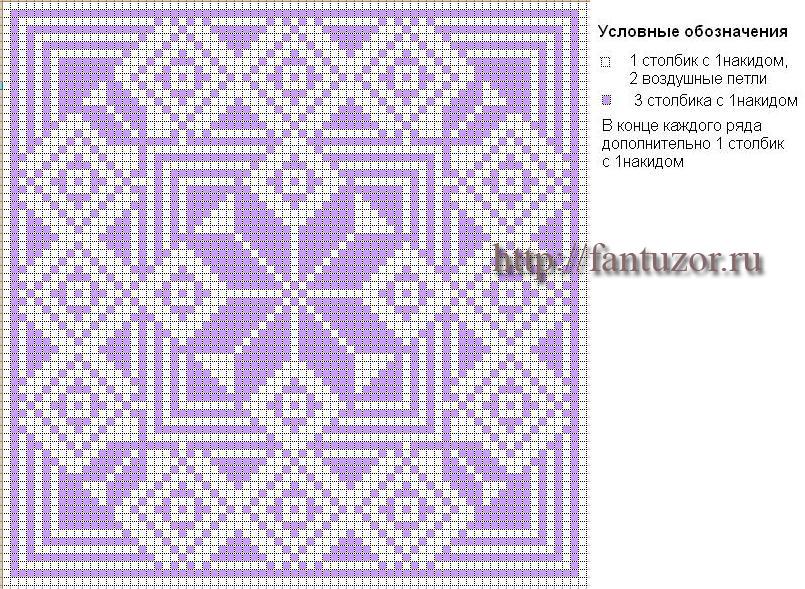 Коллекция схем для салфеток-филейное вязание крючком.